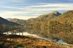 Llyn Gynant, Snowdonia, Galles Fotografia Stock Libera da Diritti