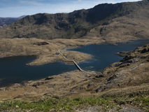 Llyn Llydaw Lake, Pays de Galles Images stock