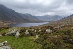Llyn Ogwen και η κοιλάδα Ogwen στοκ φωτογραφίες