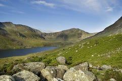 Llyn Ogwen et le Glyders Snowdonia Images libres de droits