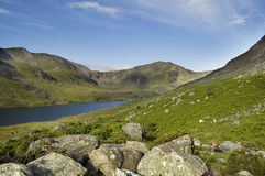 Llyn Ogwen and the Glyders Snowdonia. Llyn Ogwen and the Glyders Mountains Snowdonia royalty free stock images