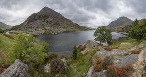 Llyn Ogwen - Snowdonia National Park stock images