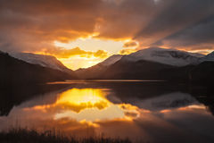Llyn Padarn sunrise Royalty Free Stock Images