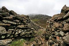 Llyn Peninsule, fortificazione di età di ferro di Tre'r Ceiri immagini stock