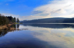 Llyn On reservoir, Nant-ddu, Brecon Beacons National Park. Royalty Free Stock Images