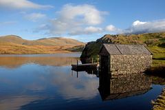 Llyn Y Dywarchen a fishing lake Royalty Free Stock Image