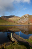 Llyn Y Dywarchen a fishing lake Royalty Free Stock Images