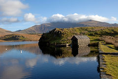Llyn Y Dywarchen a fishing lake Royalty Free Stock Photography