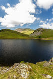 Llyn y Dywarchen Reservoir gills and mountains beyond, Snowdonia Royalty Free Stock Photo