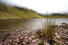 Llyn y Fan Fach in fog Royalty Free Stock Photography