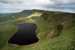 Llyn y fan fach, the welsh lake in Brecon Beacons national Park Royalty Free Stock Image