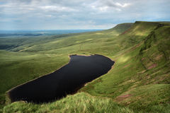 Llyn y fan fach, the welsh lake in Brecon Beacons national Park. Wales, uk, powys Stock Images
