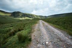 Llyn y fanfach, den welsh sjön i Brecon leder nationalparken Royaltyfria Bilder