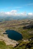Llyn y Gadair from Cadiar Idris, Dolgellau, Snowdonia, North Wales Stock Image