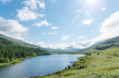 Llynnau Mymbyr. In the Dyffryn Mymbyr valley on a sunny day. Located in Snowdonia North Wales Royalty Free Stock Images