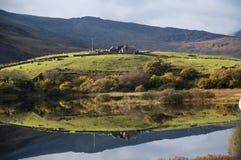 Llynnau Mymbyr - lacs dans Snowdonia photos libres de droits