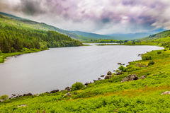 Llynnau Mymbyr lakes located in Dyffryn Mymbyr, valley running from the village of Capel Curig to the Pen-y-Gwryd Royalty Free Stock Image