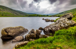 Llynnau Mymbyr lakes located in Dyffryn Mymbyr, valley running from the village of Capel Curig to the Pen-y-Gwryd. Snowdonia Stock Photography
