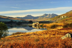 Free Llynnau Mymbyr To The Snowdon Range, Winter Stock Images - 23552334