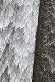 Llys y Fran水库水坝溢出 库存图片