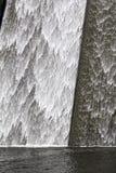 Llys y Fran水库水坝溢出 免版税库存照片