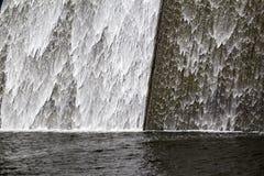 Llys y Fran水库水坝溢出 图库摄影