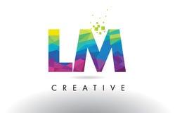 LM L vector del diseño de los triángulos de M Colorful Letter Origami Imagen de archivo libre de regalías
