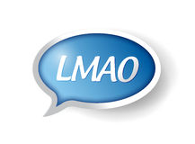 Lmao message bubble illustration design Stock Image