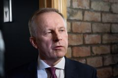 Lmars Rimsevics, κυβερνήτης της κεντρικής τράπεζας της Λετονίας στοκ φωτογραφίες