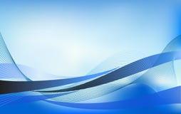 Élément abstrait de conception de fond de vecteur de vague d'écoulement de l'eau Images libres de droits