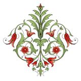 Élément de conception de décoration de fleur Image libre de droits