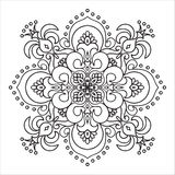 Élément de mandala de zentangle de dessin de main Style italien de majolique Images stock