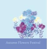 élément floral de D'or-marguerite sur le fond bleu-clair Photographie stock