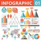 Éléments 01 d'Infographic Photographie stock