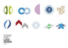 Éléments 04 de vecteur de conception de logo Photo stock