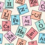 Éléments chimiques - table périodique Photos stock