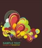 éléments colorés de conception frais Photo libre de droits