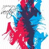 Éléments colorés de recouvrement d'éclaboussure de graffiti d'aquarelle Photographie stock libre de droits
