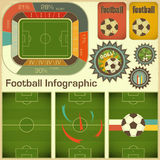 Éléments d'Infographic du football Photos stock