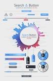 Éléments d'Infographics Photographie stock