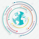 éléments d'infographics dans le style plat moderne d'affaires Photos libres de droits