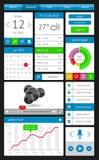 Éléments d'Ui, d'infographics et de Web comprenant d plat Images libres de droits