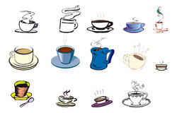 Éléments de café Photos libres de droits