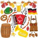 Éléments de clipart de réception d'Oktoberfest Photo stock
