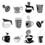 Éléments de conception de café Image stock