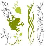 Éléments de conception de nature Photos stock