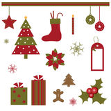 Éléments de conception de Noël Photographie stock