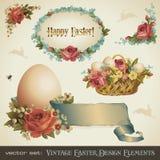 Éléments de conception de Pâques de cru Photo libre de droits