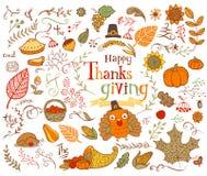 Éléments de conception de thanksgiving Photo libre de droits