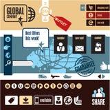 Éléments de conception de Web Image libre de droits